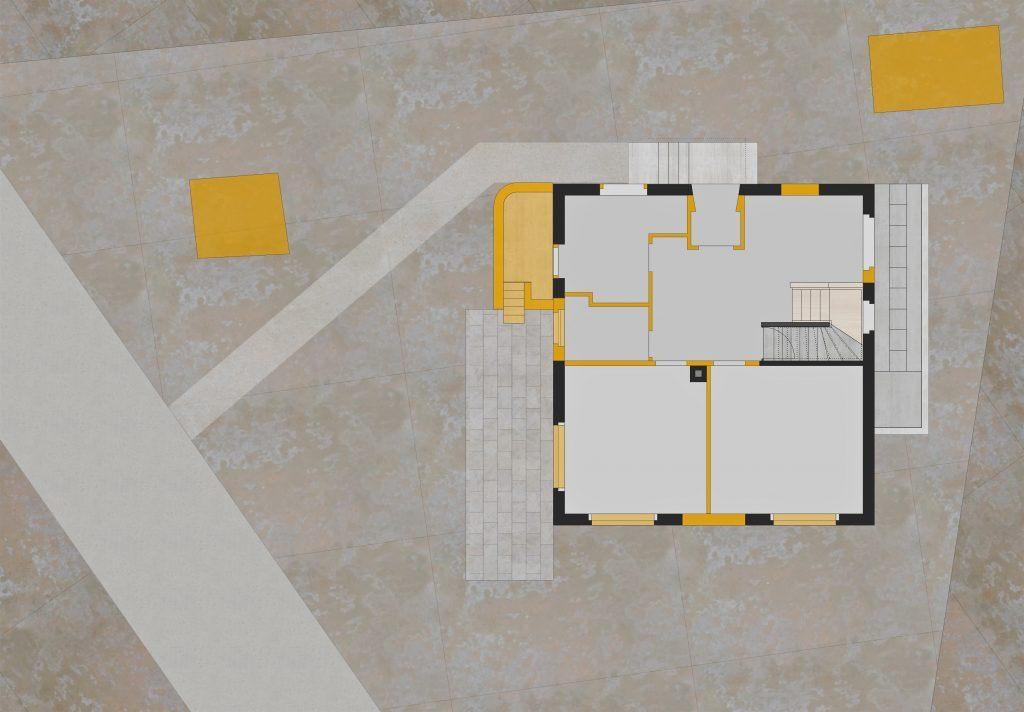 Umbau EFH Bühlweg Grundriss Erdgeschoss mit Abbrüchen