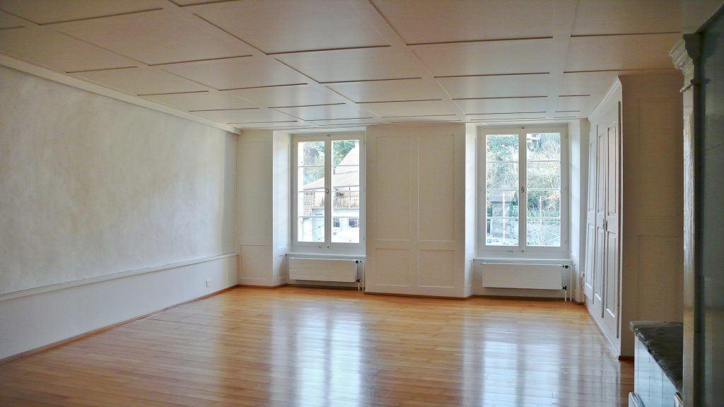 Umbau Spiegelgasse Brugg Wohnung 2. Obergeschoss Nord Ansicht Zimmer