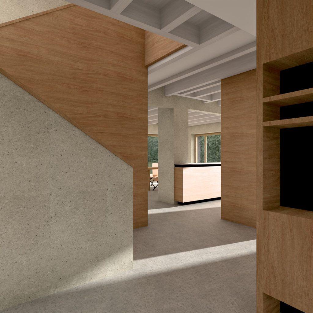Aufstockung und Erweiterung Windisch Visualisierung Eingangsbereich | Transparenz