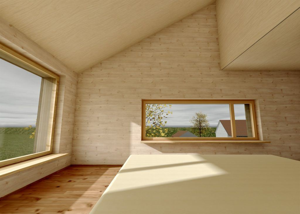 Aufstockung und Erweiterung Windisch Visualisierung Schlafzimmer