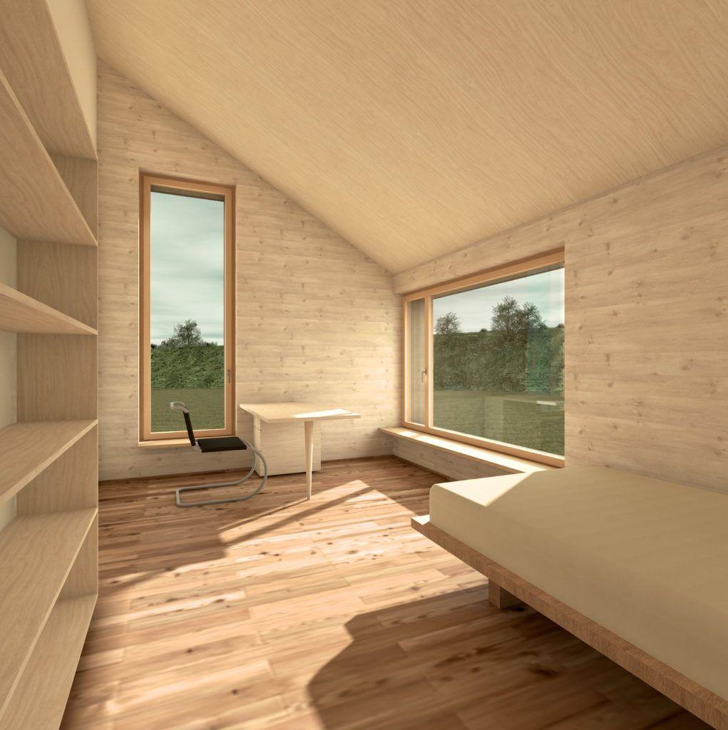 Aufstockung und Erweiterung Windisch Visualisierung Zimmer Obergeschoss