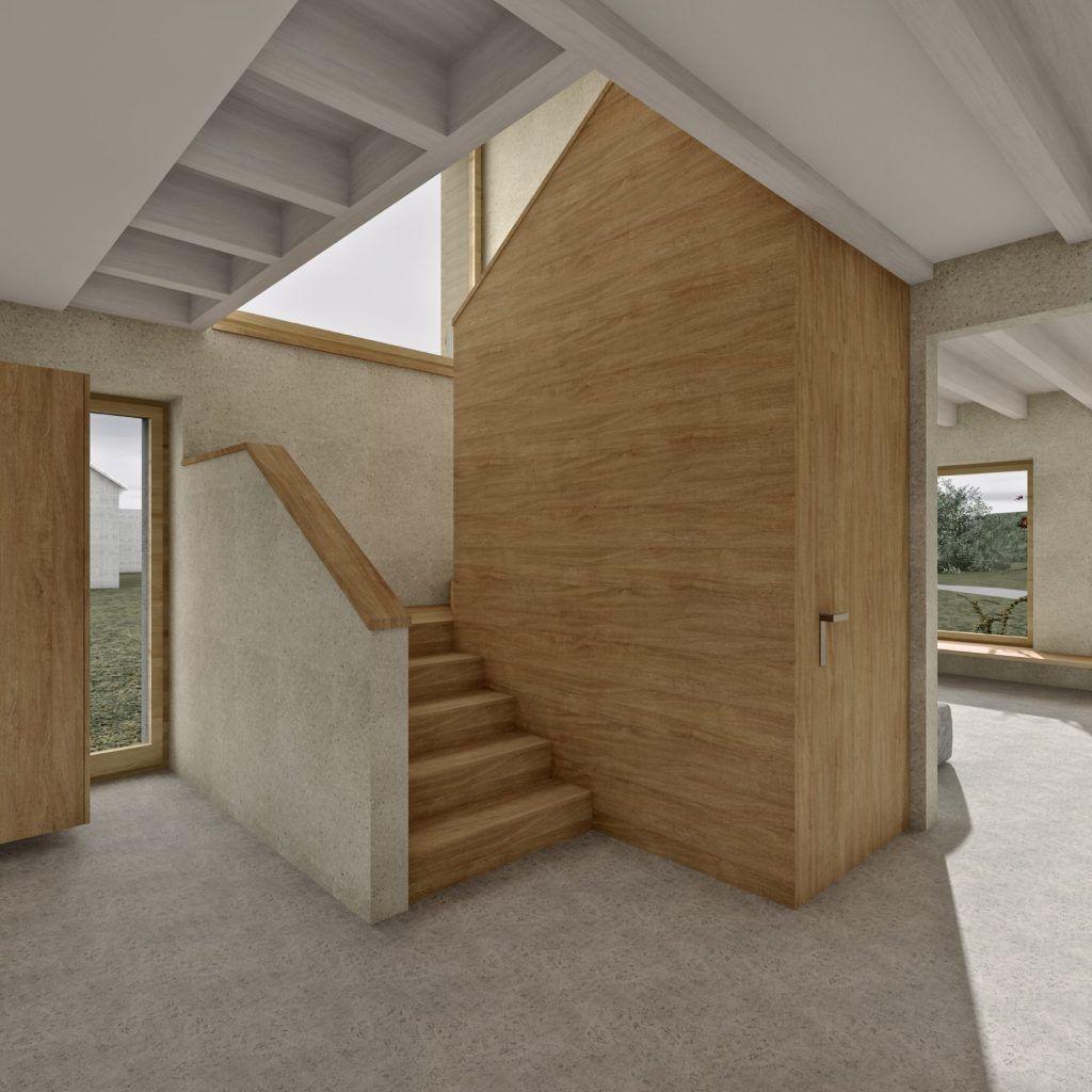 Aufstockung und Erweiterung Windisch Visualisierung Treppe