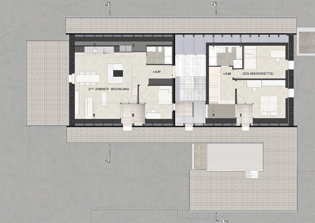 Umbau Bauernhaus und Neubau Habsburg Dachgeschoss Bauernhaus