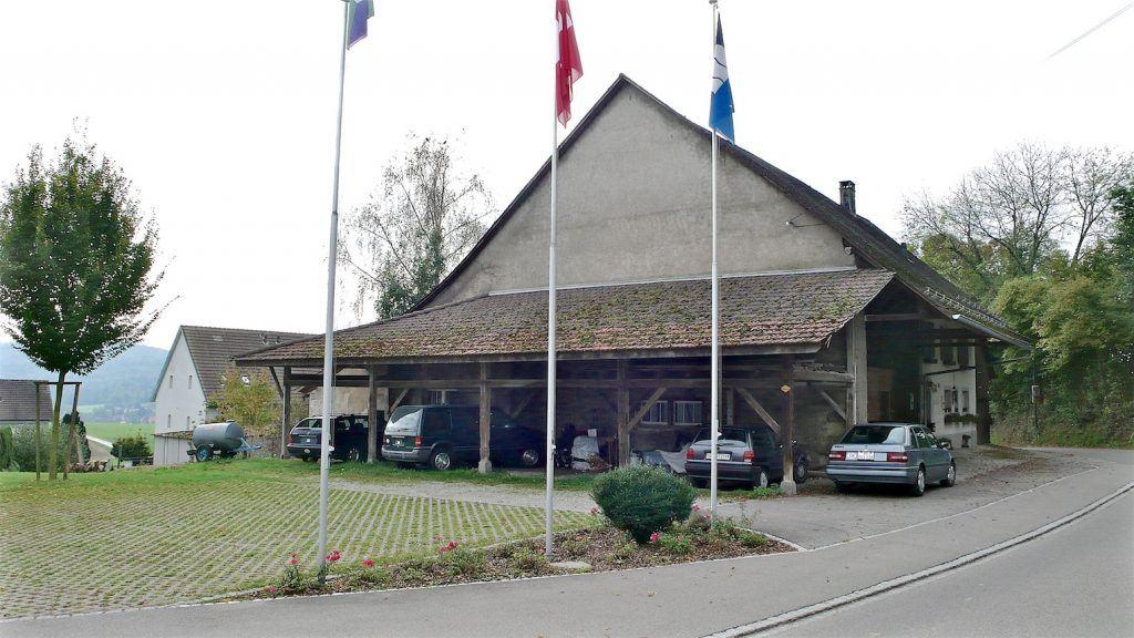 Umbau Bauernhaus und Neubau Habsburg Bauernhaus von Osten mit zukünftigem Dorfplatz