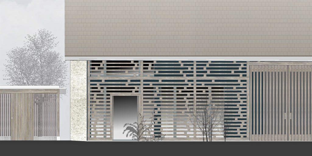 Umbau Bauernhaus Habsburg offene Fassade Tenn