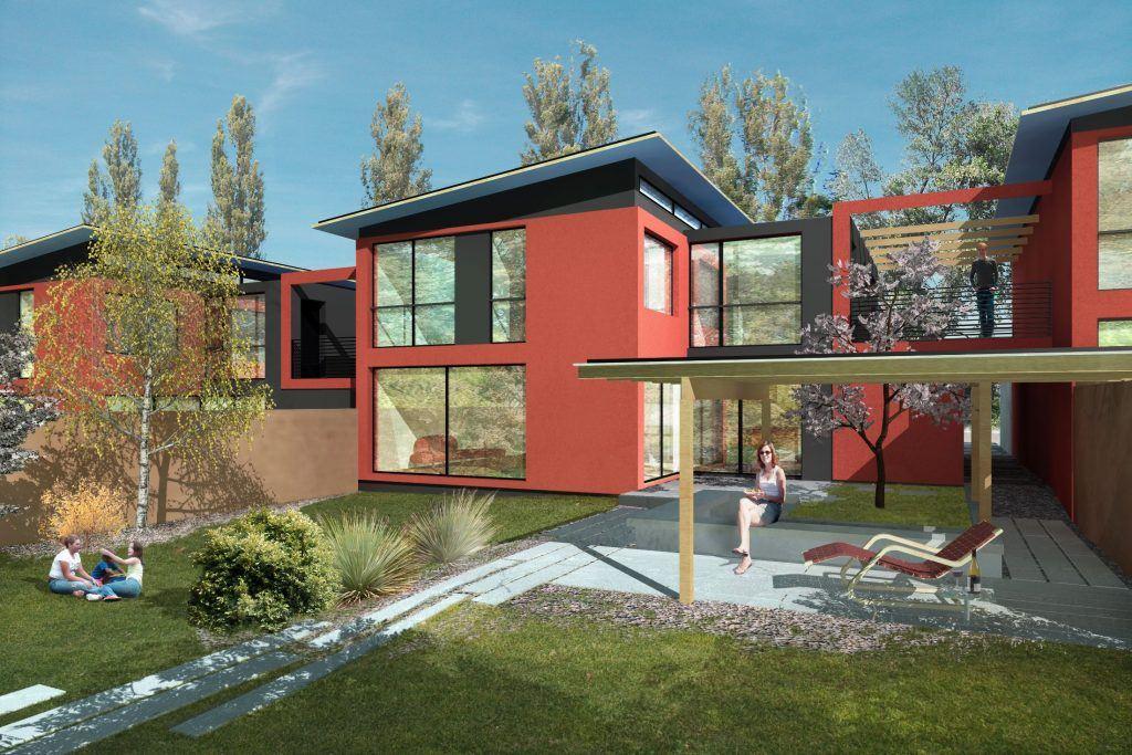 5 Einfamilienhäuser Klingnau Visualisierung Aussen