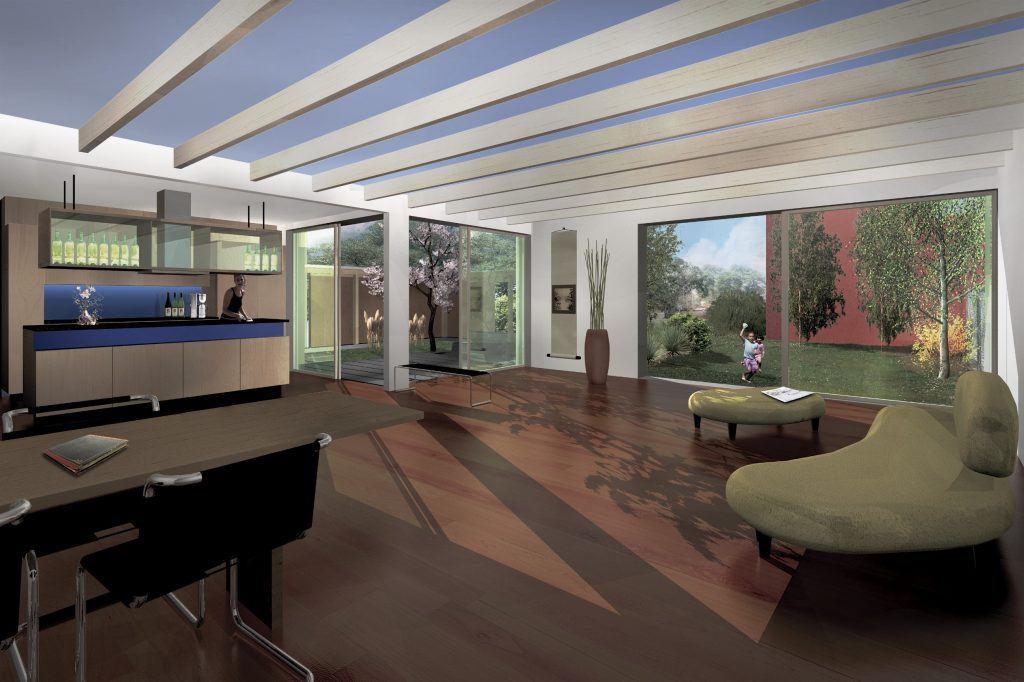 5 Einfamilienhäuser Klingnau Visualisierung Innen