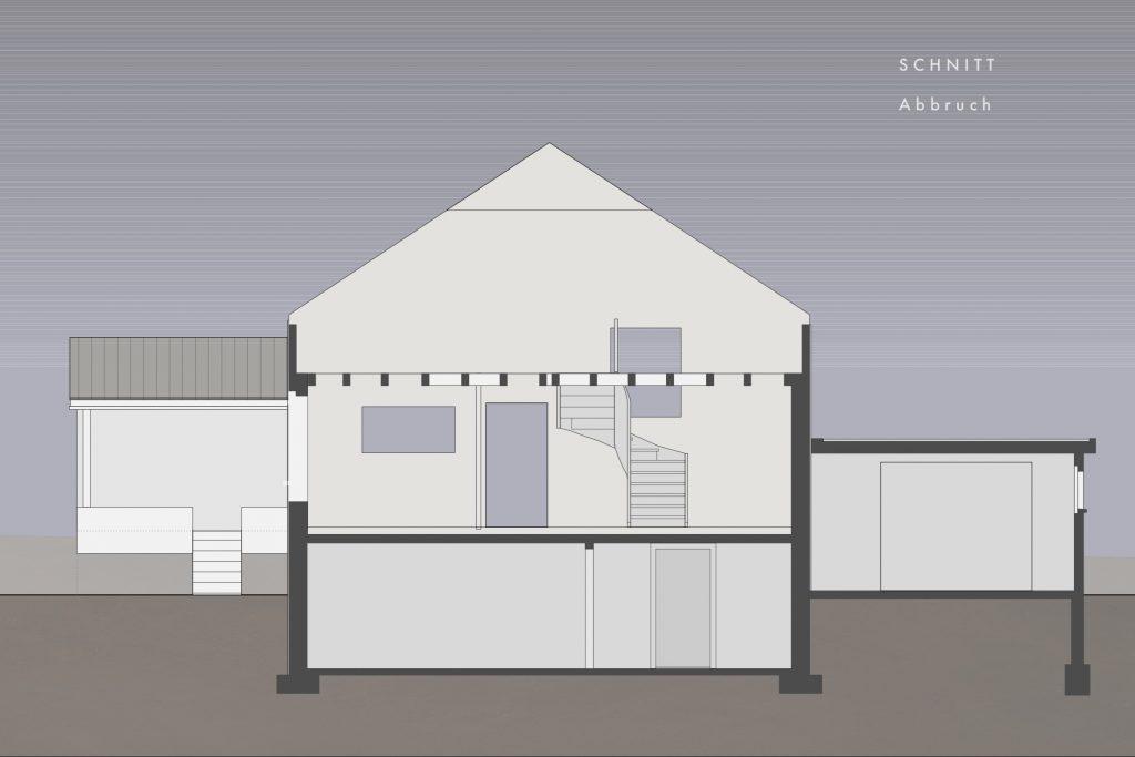 Umbau Einfamilienhaus Umiken Schnitt ohne Abbruch