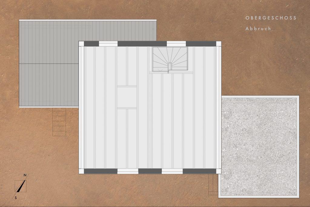Umbau Einfamilienhaus Umiken Grundriss Obergeschoss ohne Abbrüche