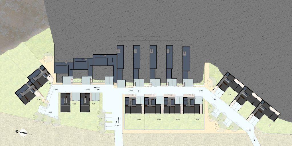Gestaltungsplan Schönenwerd Ebene 0 | Nach Orientierung und Höhenlage differernzierte Volumen