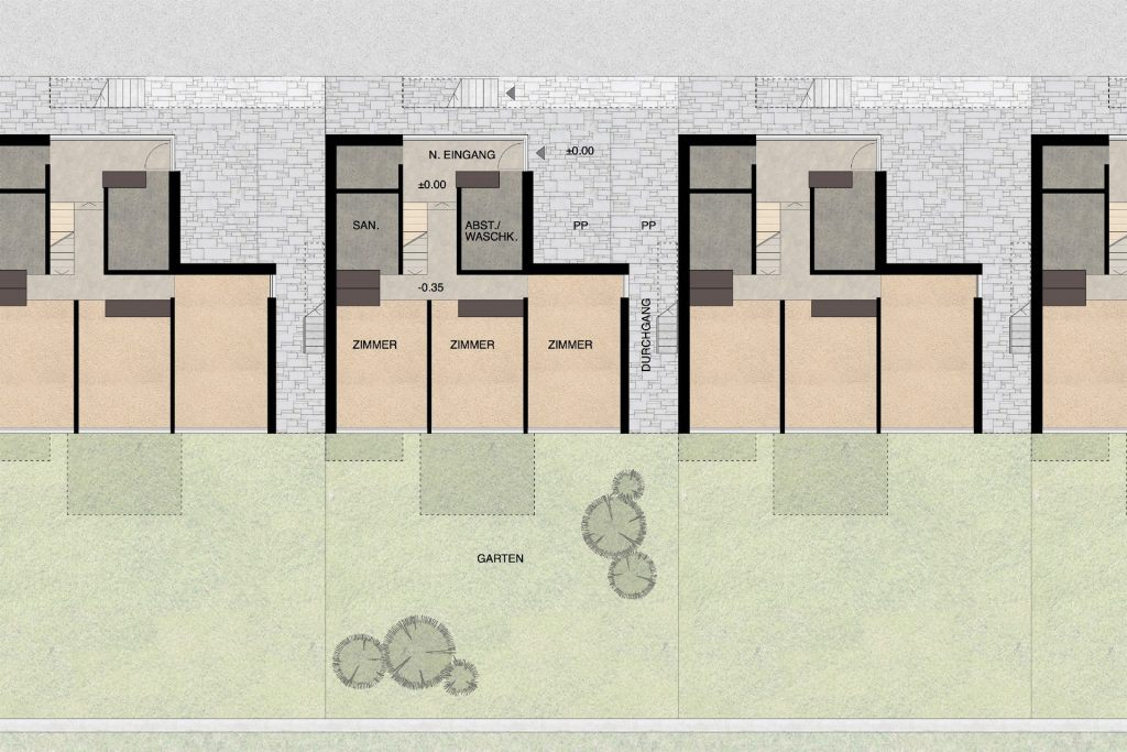 Gestaltungsplan Schönenwerd Grundriss Erdgeschoss Haustyp A