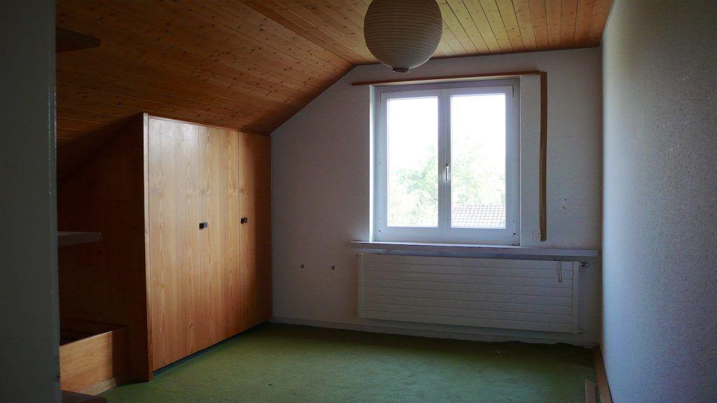 Umbau EFH Umiken Zimmer vor dem Umbau